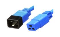 Przewód C19 / C20 HQ, 1m, 3x 1,50mm², niebieski