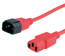 Przewód C13 / C14 HQ, 1,5m, 3x 1,00mm², czerwony