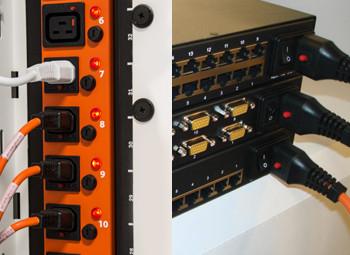 Kable IEC Lock serwerownia